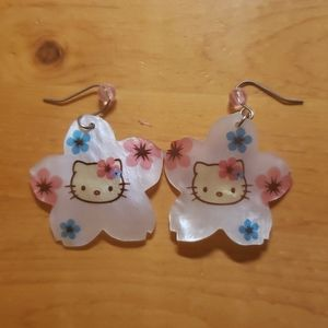 NWOT Hello Kitty Flower Earrings